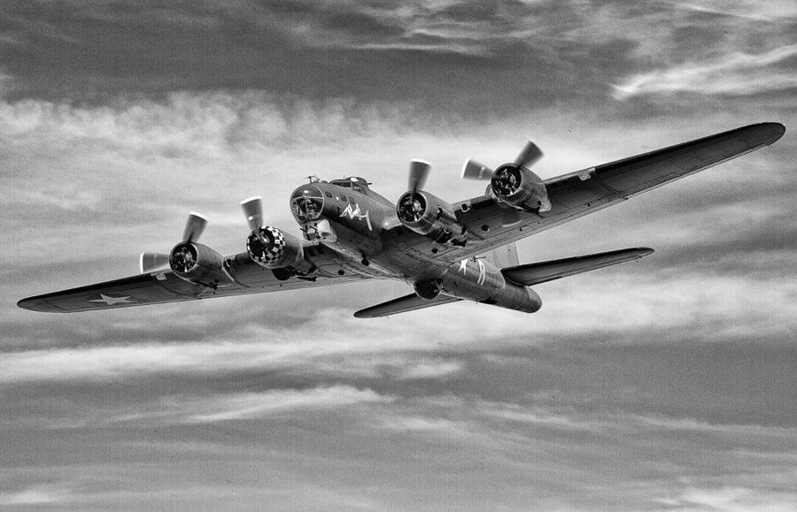 B17 Flying Fortress 'Sally B' at Duxford 2013