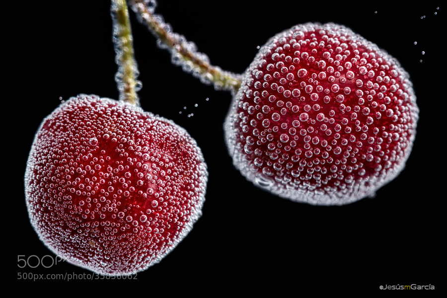 Photograph Cherries and bubbles by Jesús M. García © on 500px