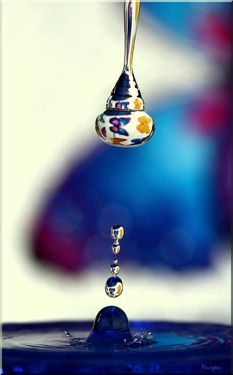 Photograph Drops and reflections... by Nurşen Biçer on 500px