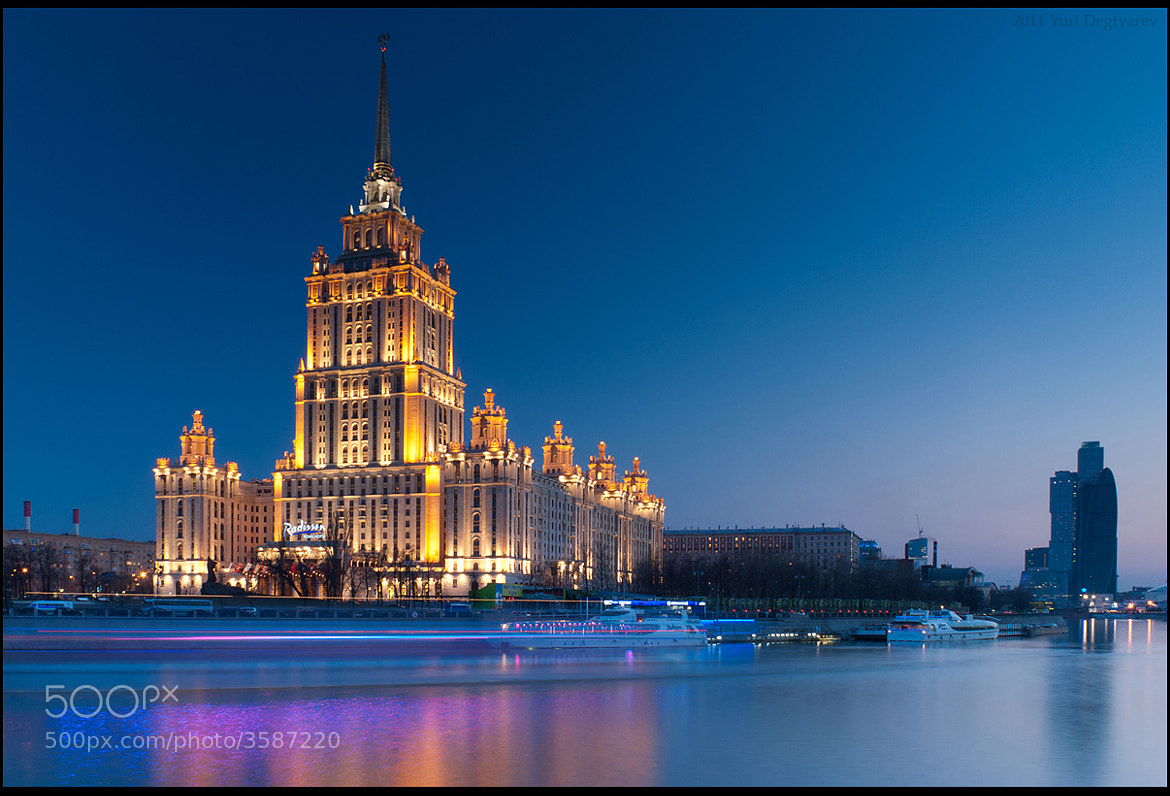 "Photograph Moscow. Hotel Radisson ""Ukraine"". by Yuri Degtyarev on 500px"