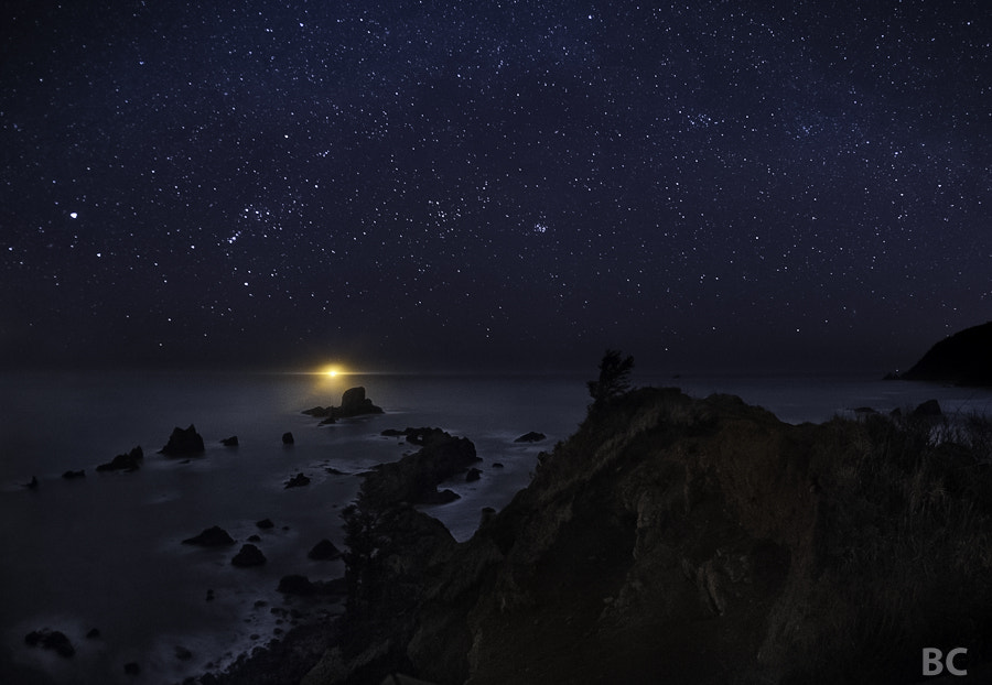 Yes! I finally got a shot of the ocean and stars that I am happy with. 