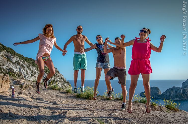 Photograph Fun people jump on Atlantic by Sergio Verzier Photography on 500px
