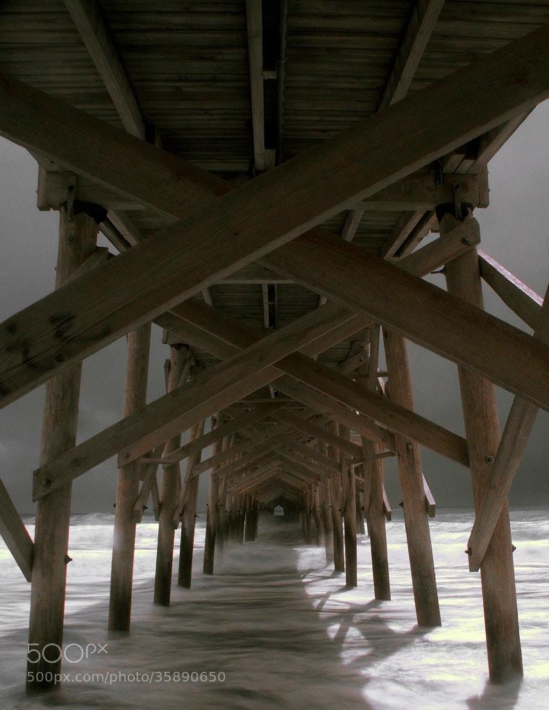 Photograph Pawleys Pier, Hurrican Hannah, IR by James Hilliard on 500px