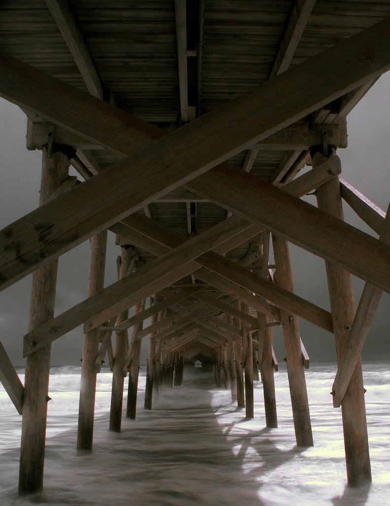 Photograph Pawleys Pier, Hurrican Hannah, IR by James Hilliard on 500px