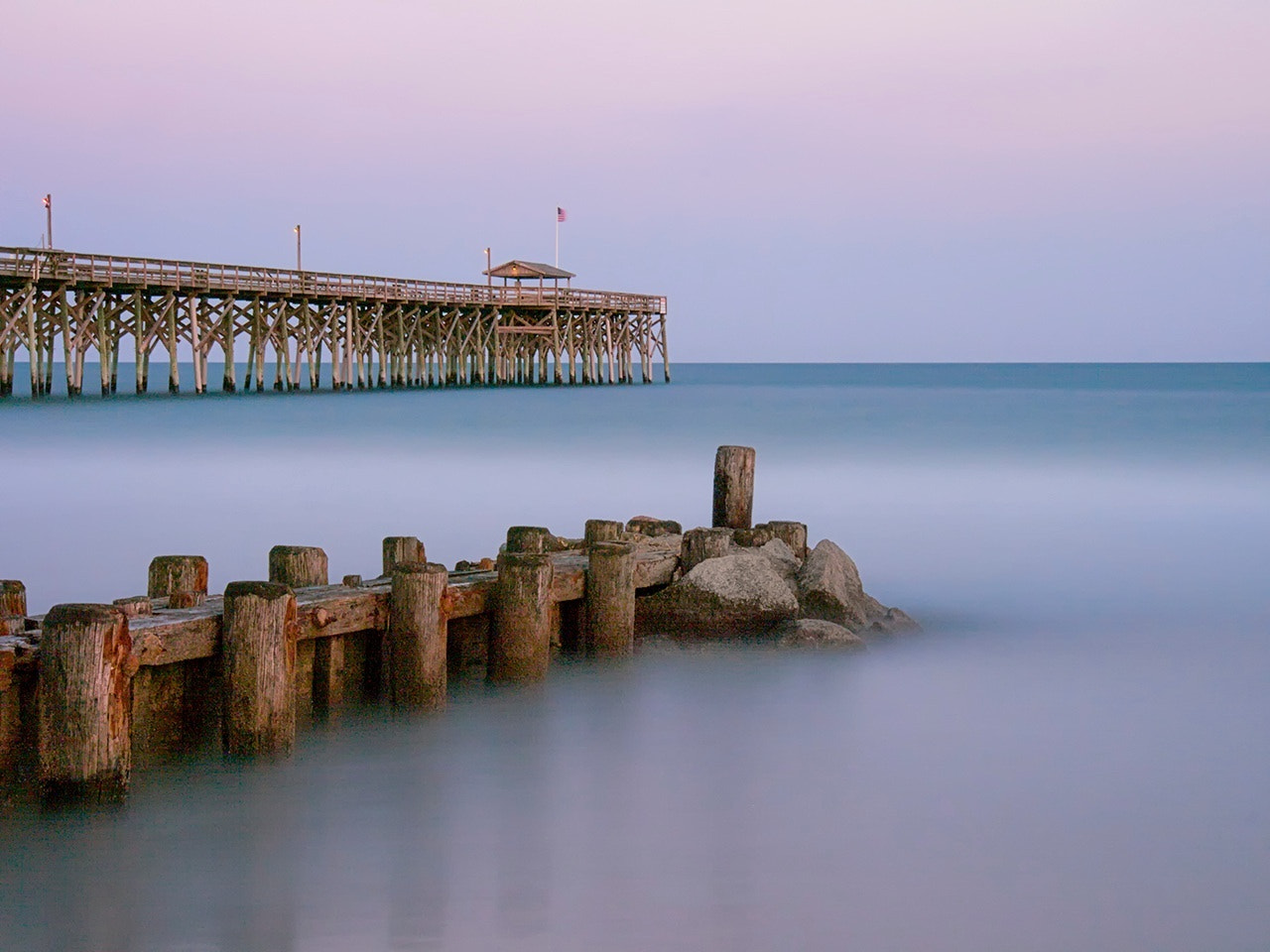 Photograph Pier and Groin by James Hilliard on 500px