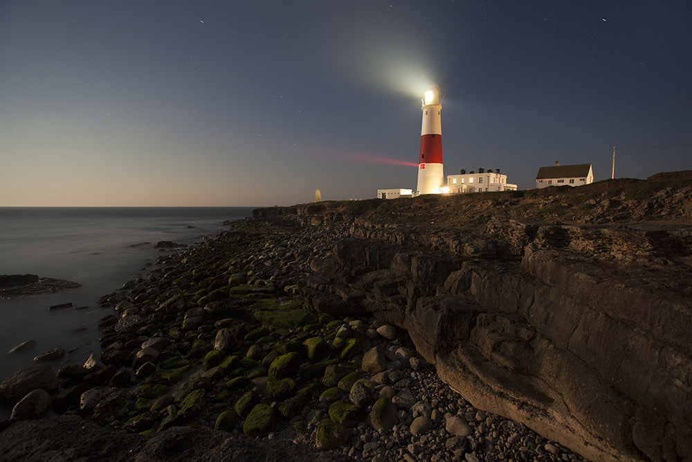 Photograph Portland Bill Lighthouse in Moonlight by Daniel Hannabuss on 500px