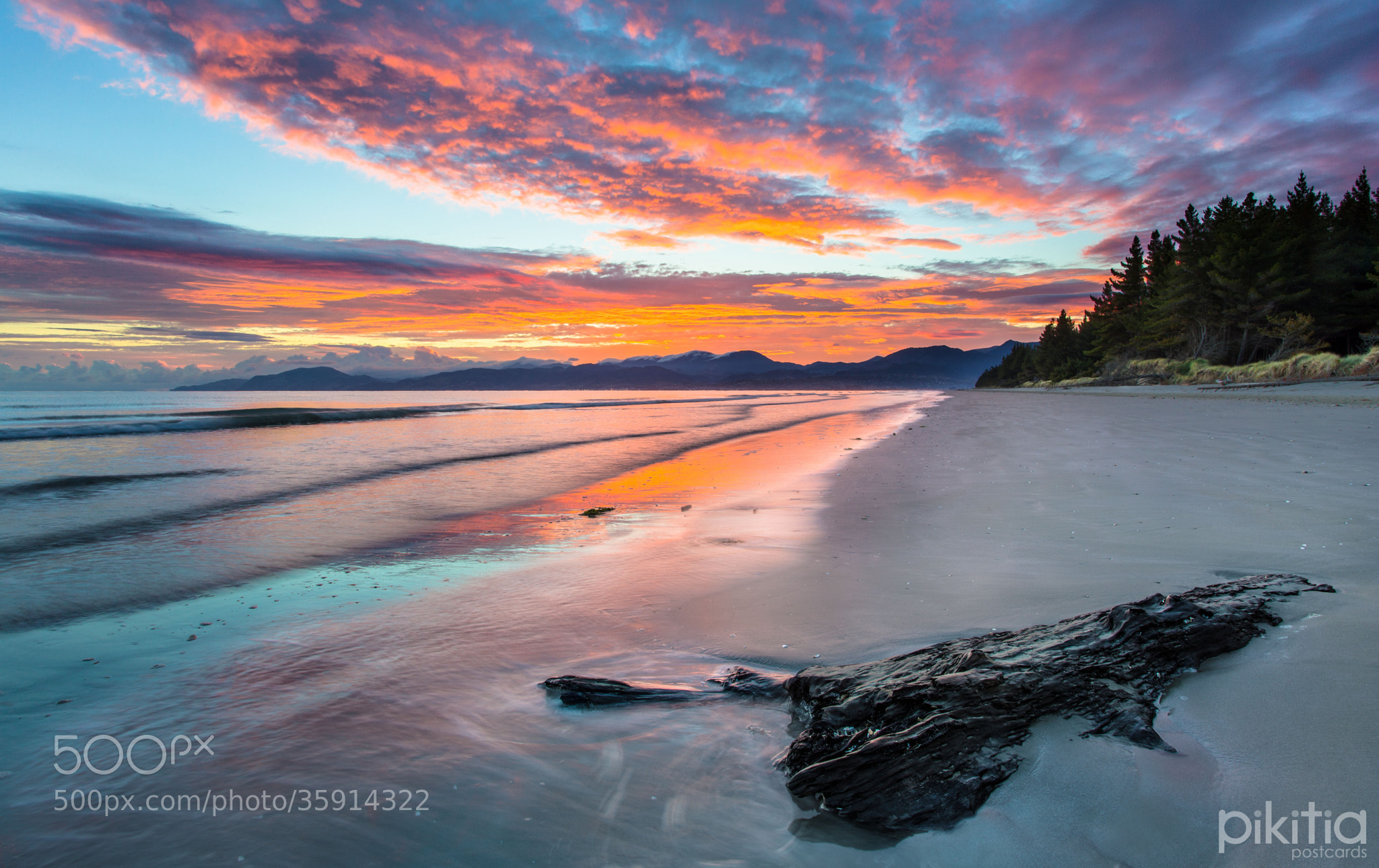 Photograph View to Nelson from Rabbit Island by Pikitia Postcards  on 500px