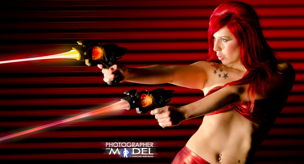 Photograph Space Girl Red Fighting by Ron Davis on 500px