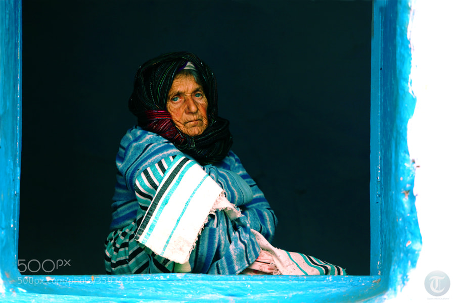 Photograph OLD WOMAN IN BLUE by TAJANI ABDELOUAHED on 500px