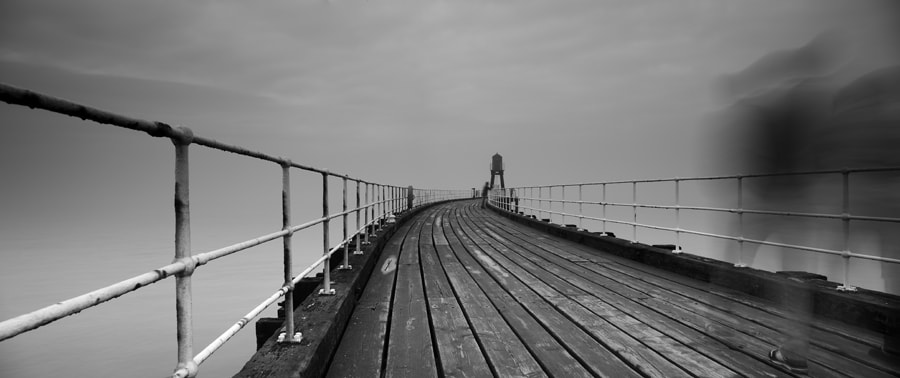 Misty Day on Whitby Pier