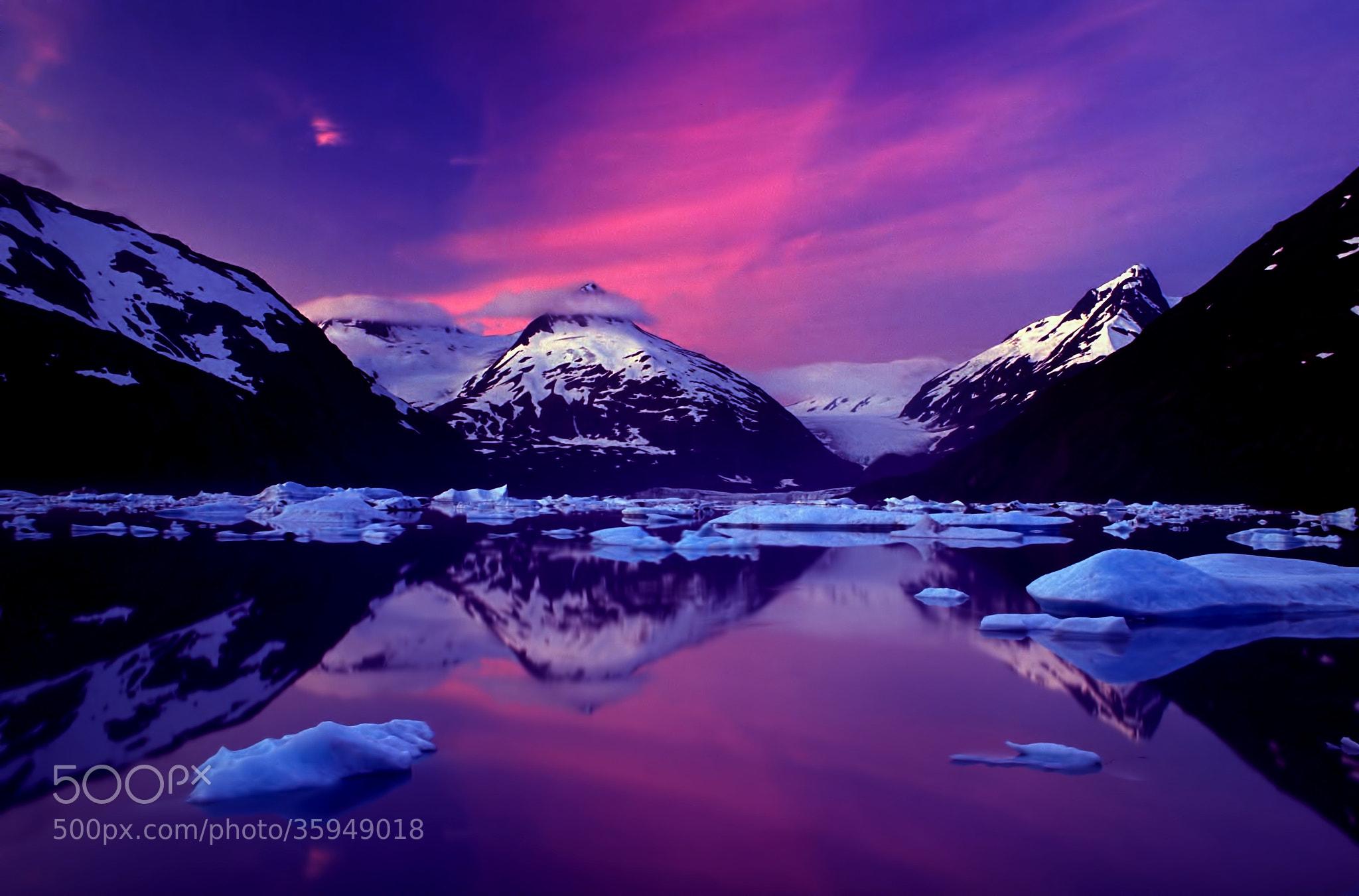 Photograph Dawn at Portage Lake, Alaska by Carlos Rojas on 500px