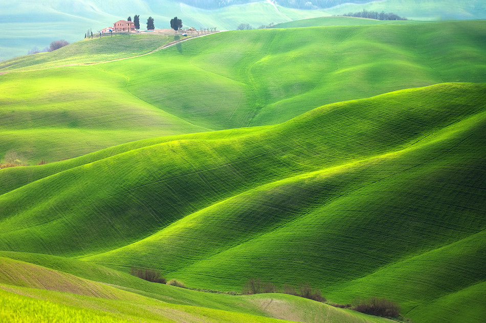 Photograph House on green waves by Marcin Sobas on 500px