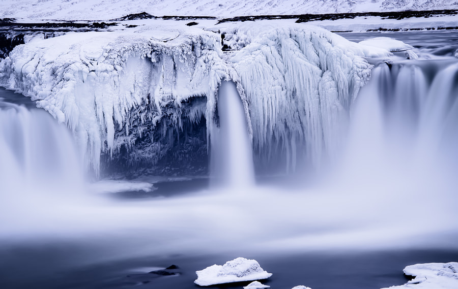 The Frozen Teeth of Godafoss by Conor MacNeill on 500px.com