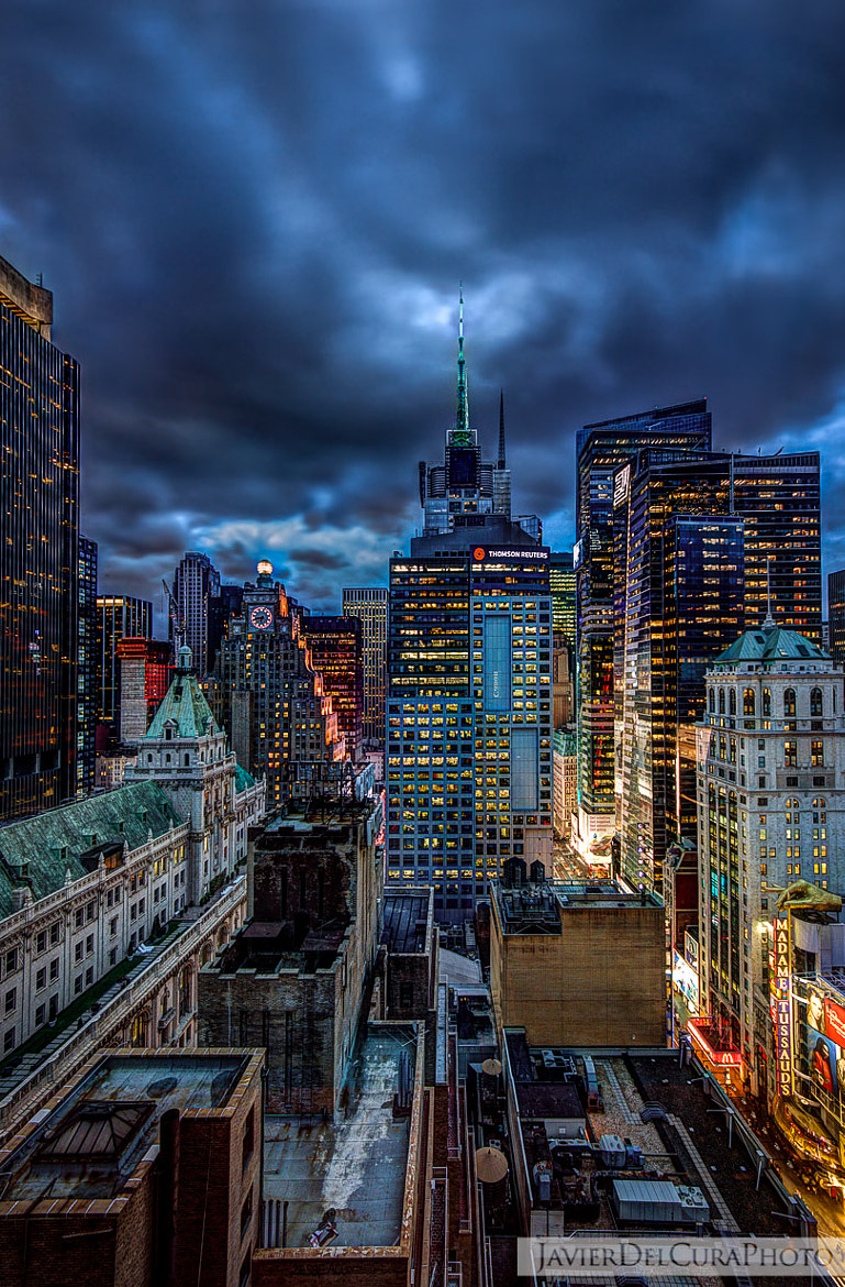 Photograph Gotham city at night by Javier del Cura on 500px