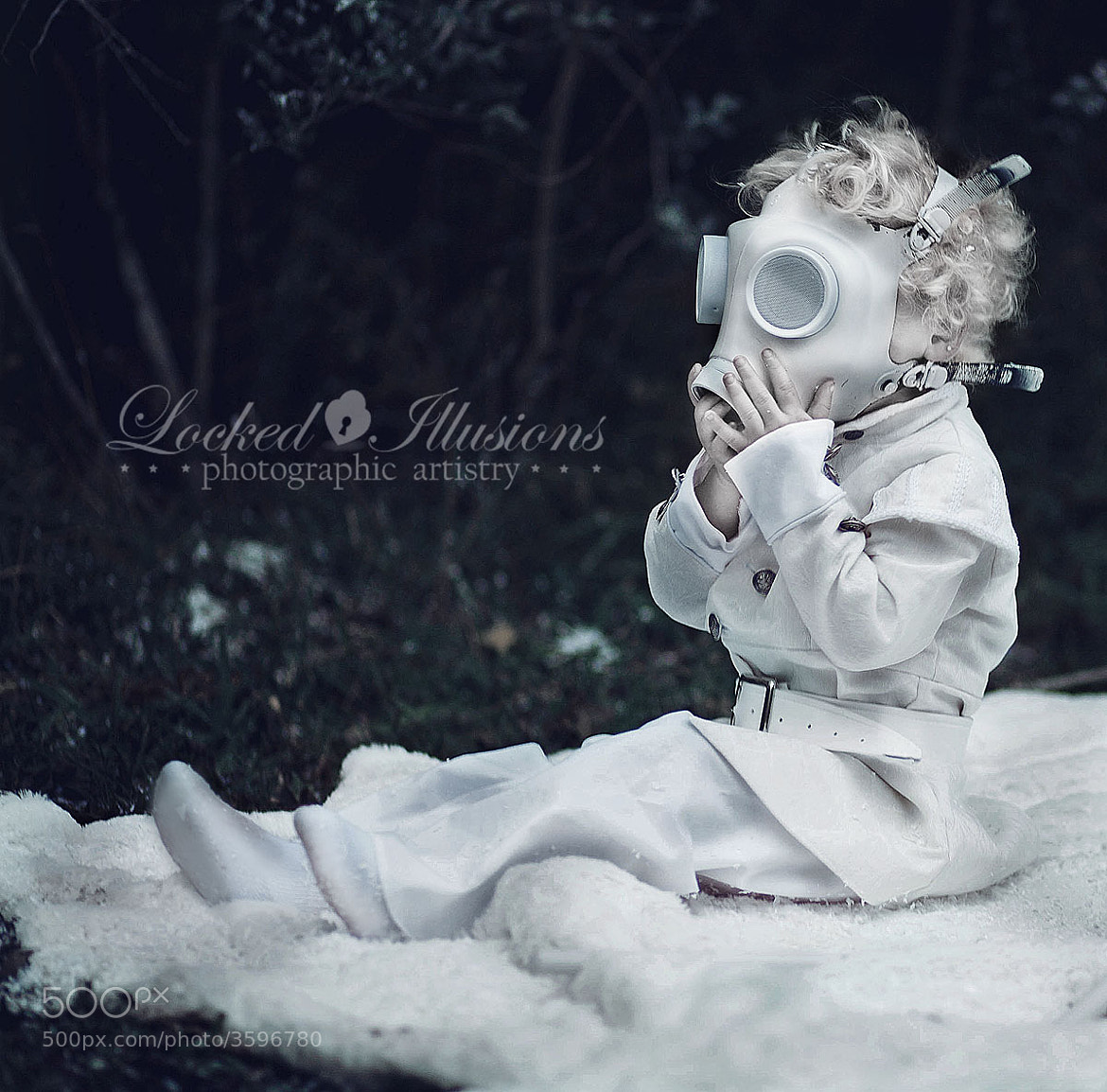 Photograph Gas Mask Toddler by Brit Bentine on 500px