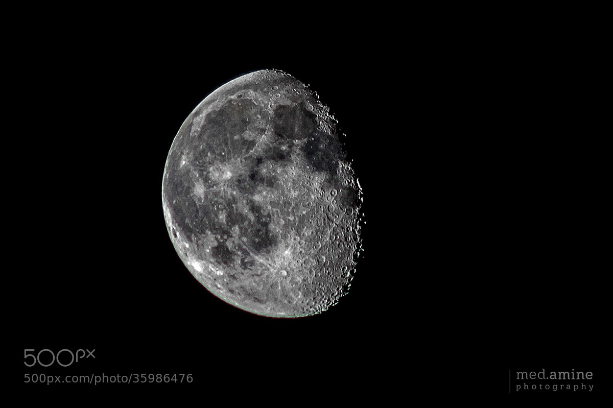 Photograph Moon by Med Amine on 500px