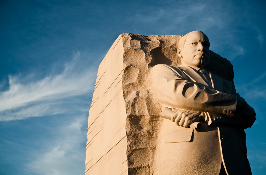 The newly built monument honoring Dr. Martin Luther King, Jr.