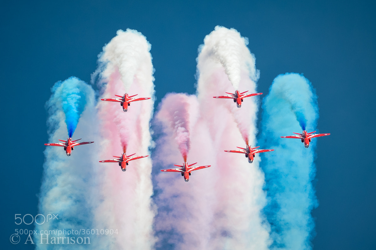 Photograph The Red Arrows by Adrian Harrison on 500px