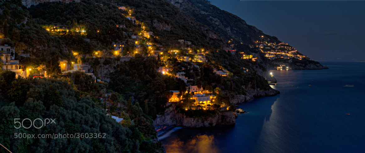 Photograph Amalfi Coast by night by Jon Weiland on 500px