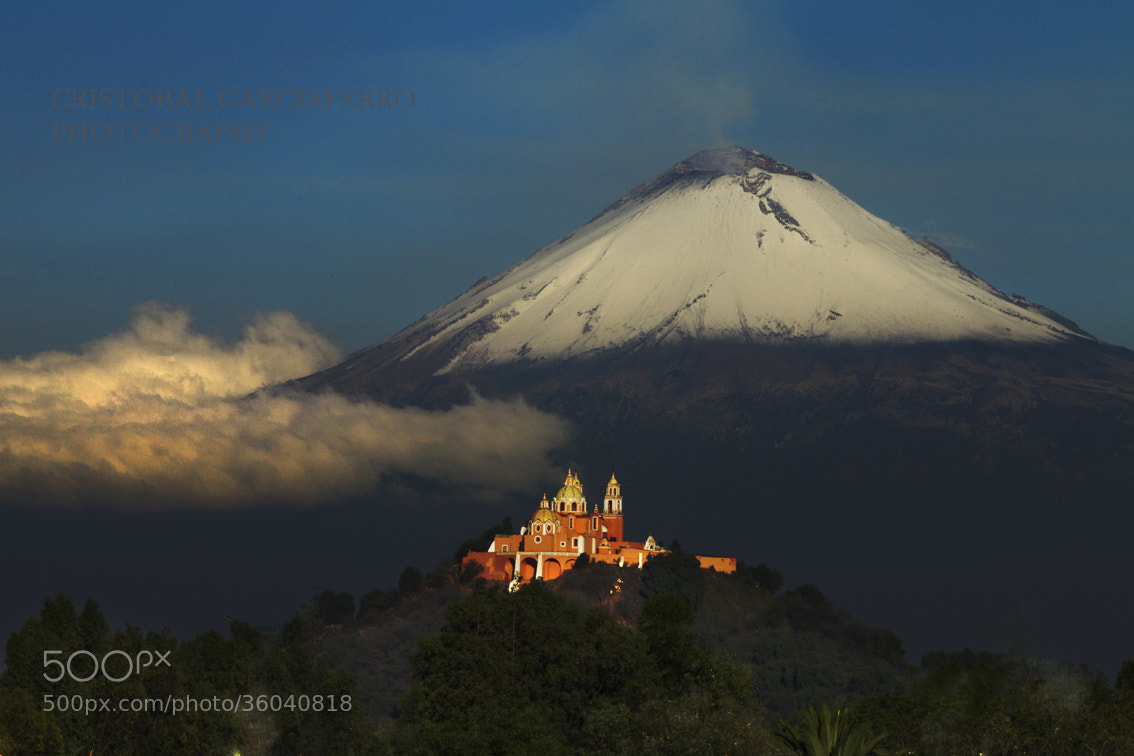 Photograph Volcano, clouds and church by Cristobal Garciaferro Rubio on 500px