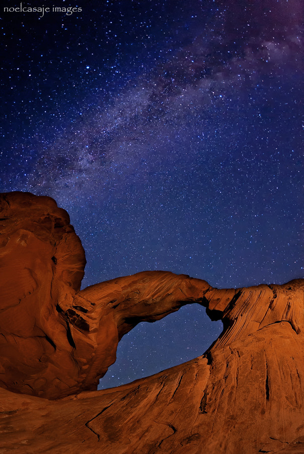 "Photograph ""WINDOW TO THE COSMOS"" Valley of Fire State Park - Nevada by noel casaje on 500px"
