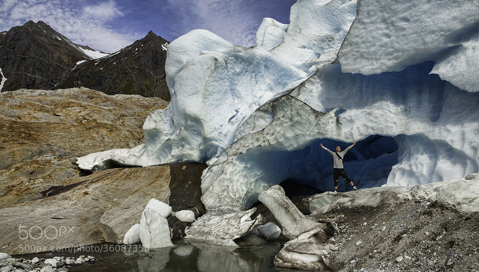 Photograph The black glaciers by Tommy  Angelsen on 500px
