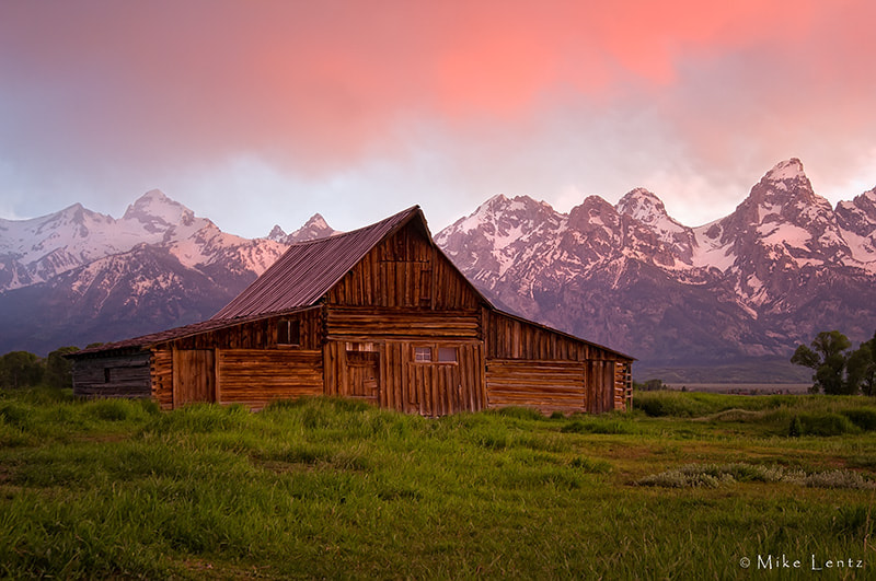 Photograph John Moulton Barn and the Tetons by Mike  Lentz on 500px