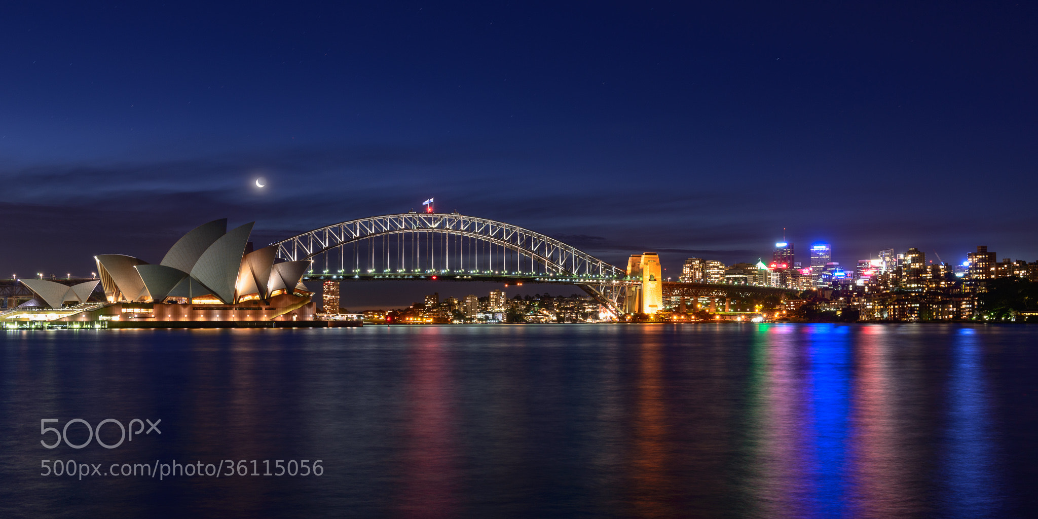 Photograph Sydney Harbour Moonlight by Martin Tyler on 500px