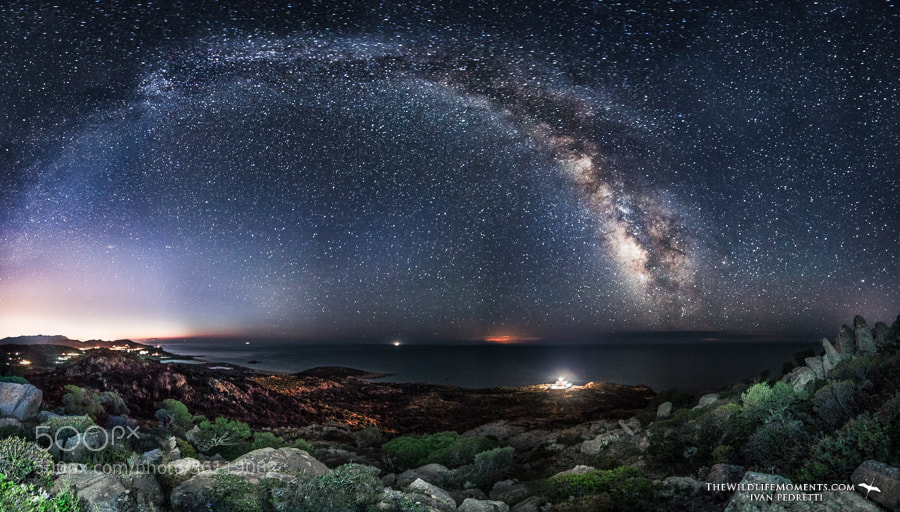 Photograph Lighthouse under milky way II by Ivan Pedretti  on 500px