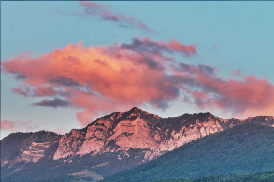 Photograph Pink sunset up the mountains  by Aerni Adeline on 500px