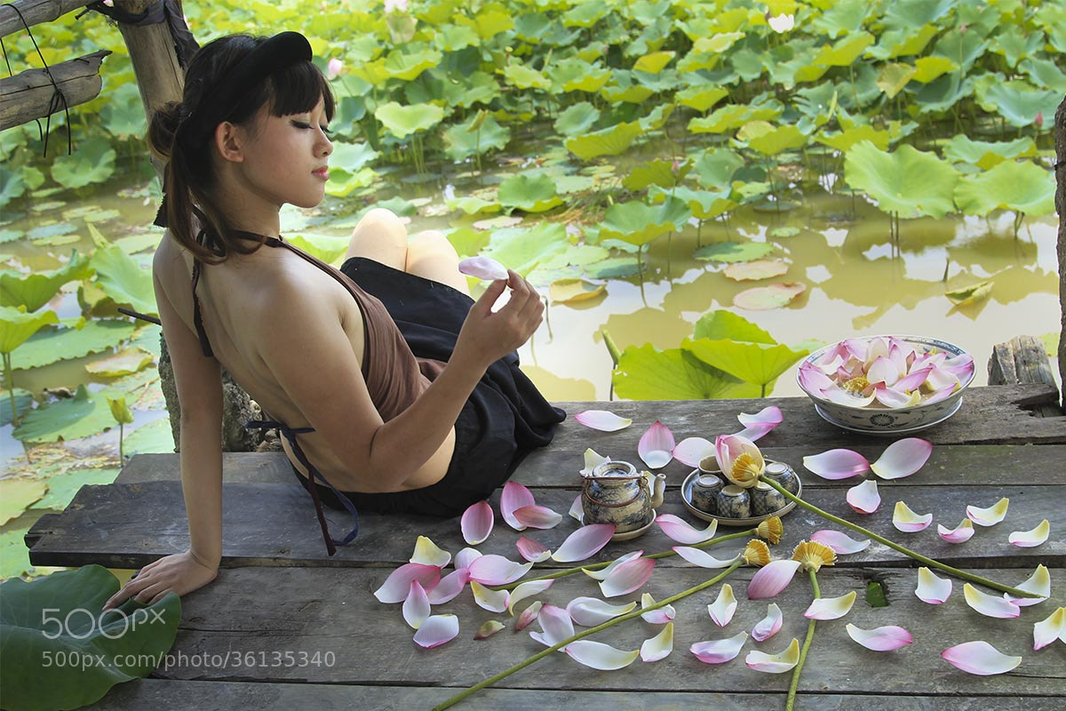 Photograph Lotus & Woman  by Tuan Nguyen Anh on 500px
