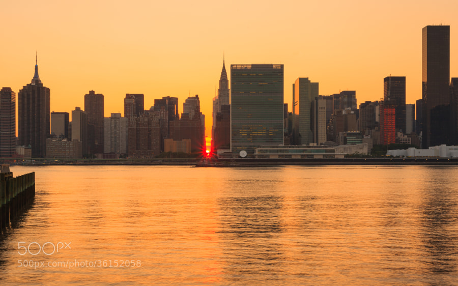 Photograph Manhattanhenge 2013 by Yogesh Arora on 500px