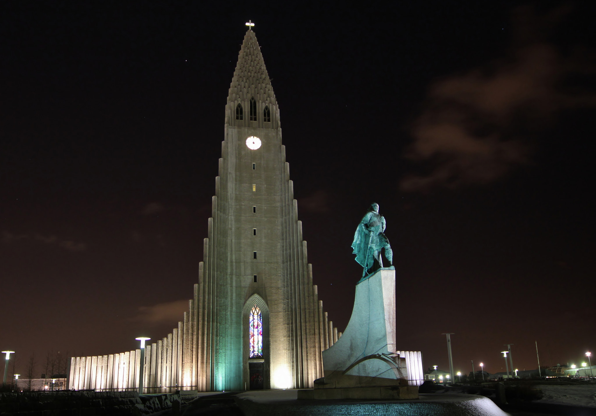 Photograph Hallgrímskirkja by night by Christine F. on 500px