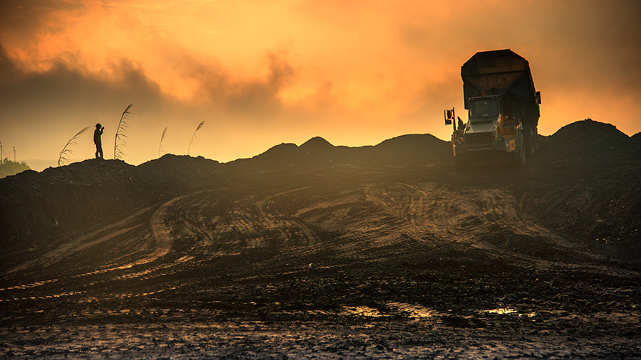 Photograph Sunset in Coal mine by Hai Thinh on 500px
