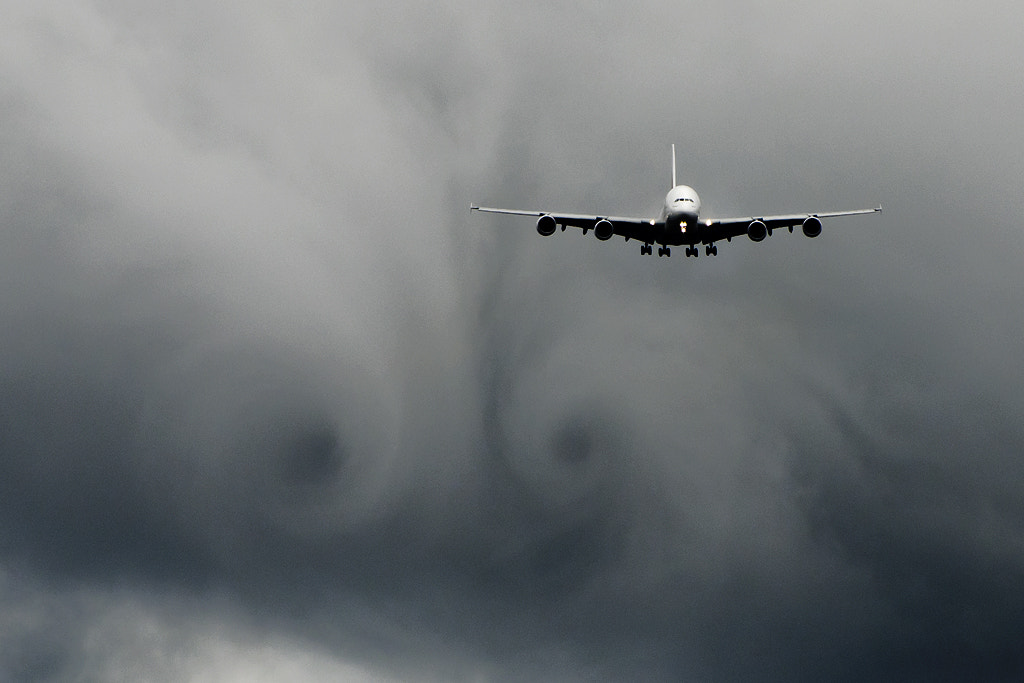 Photograph A380 wake by Adrian Williams on 500px