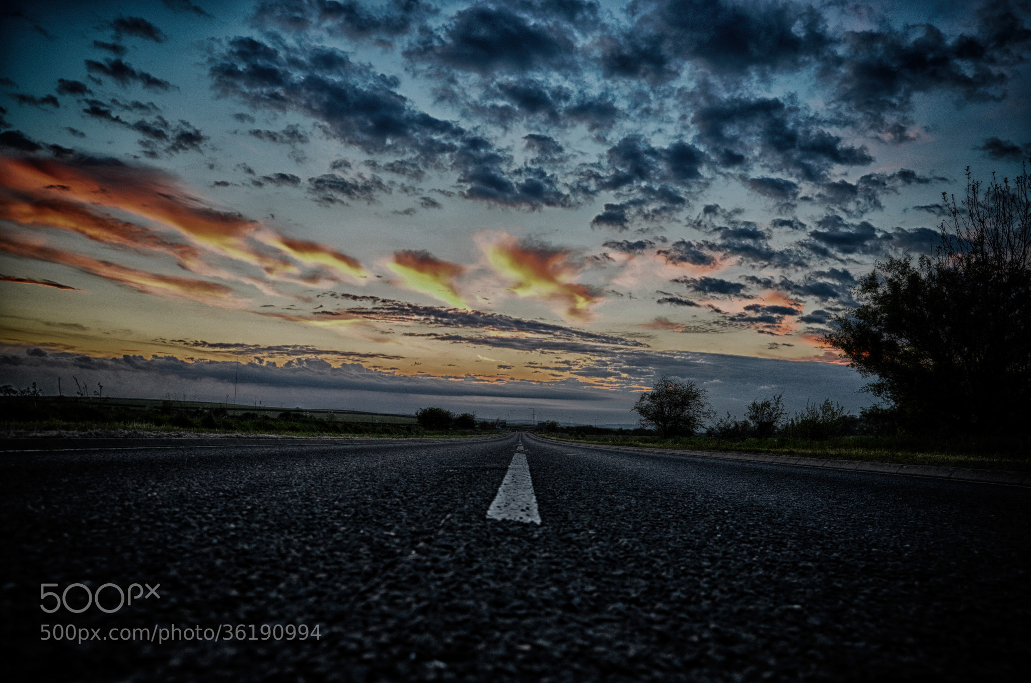 Photograph Sunset Road by MalekPhotography on 500px