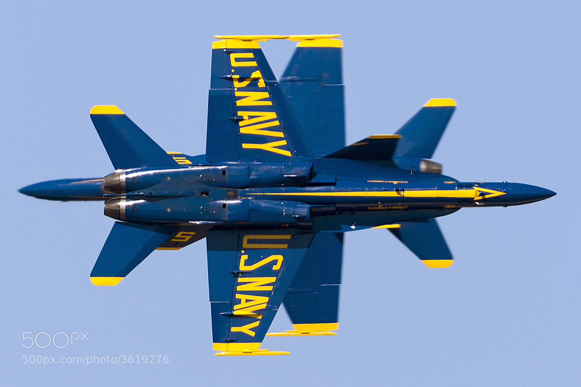 Photograph Blue Angels Knife Edge Cross by Clifford Martin on 500px