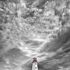 Peggy's Cove lighthouse and a great cloud texture (natural)