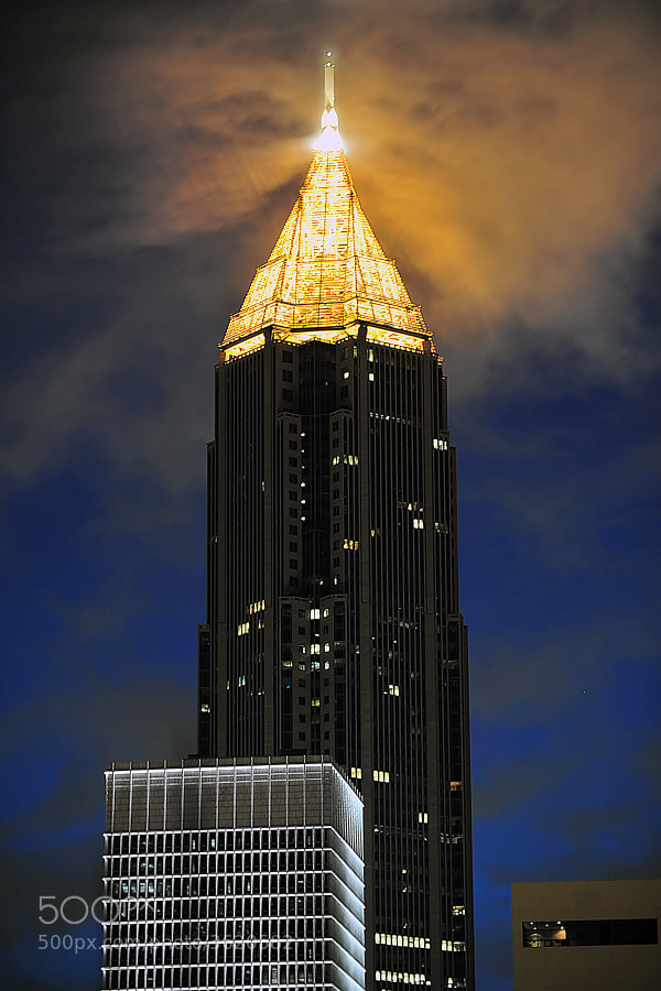 Downtown Atlanta office building at dawn.