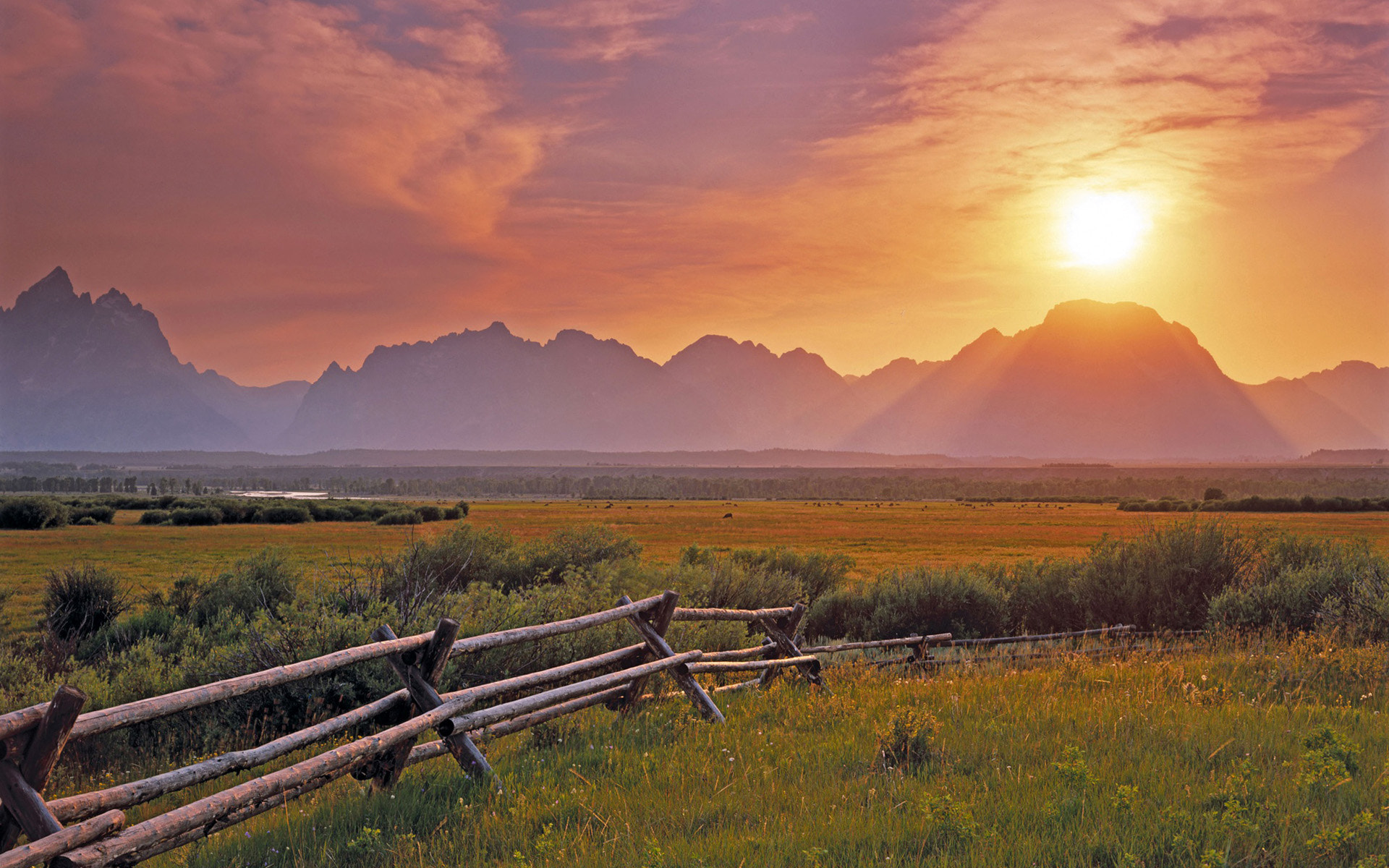 Photograph Sunset over the Grand Teton from the sagebrush flats; Grand Teto by DIXIT LORIYA on 500px