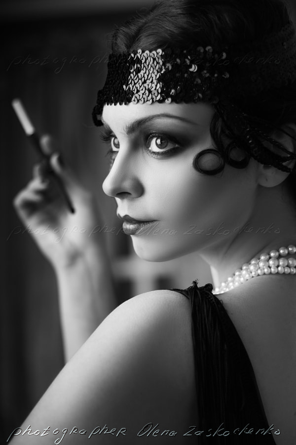 retro flapper style by Olena Zaskochenko on 500px