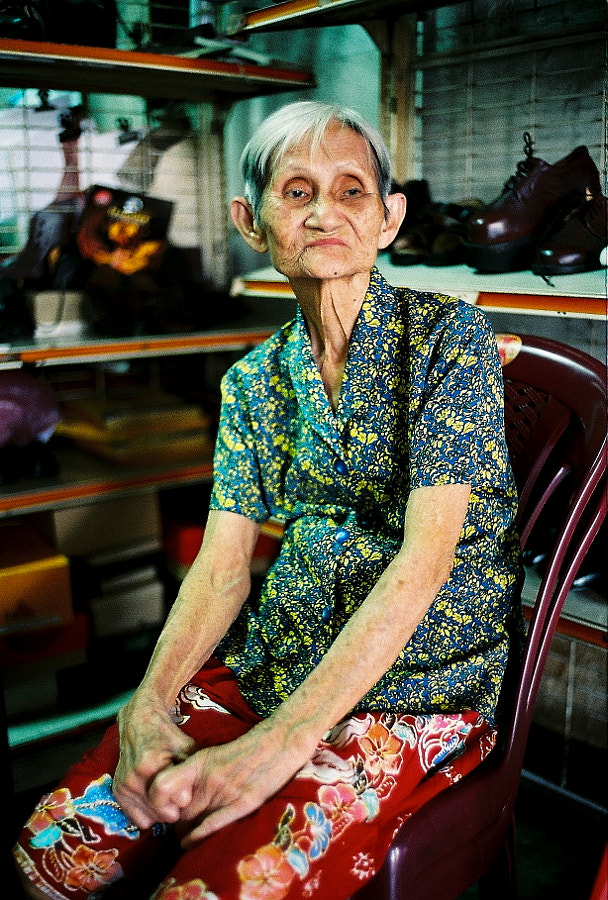 She has been operating this shoes business since her early 20s..and now she is in her 80s.