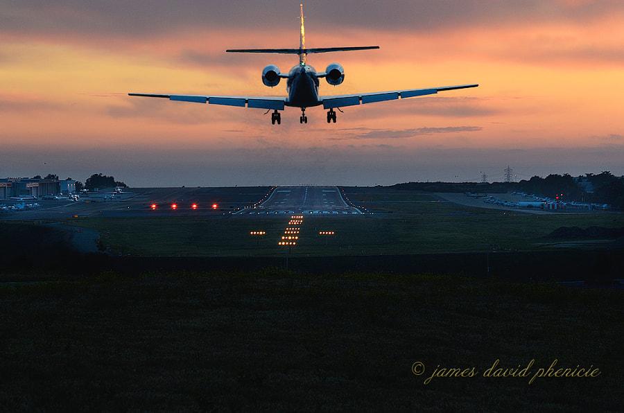 Aircraft Series:  Landing at Sunset