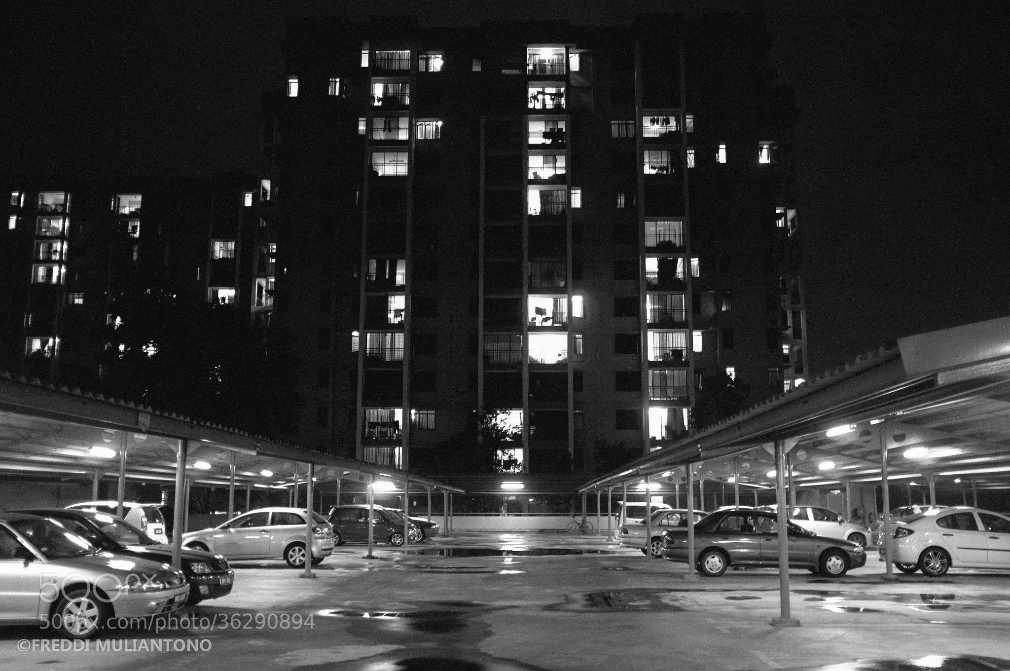 Photograph Cyberia B2 Parking Lot At Night by Freddi Muliantono on 500px
