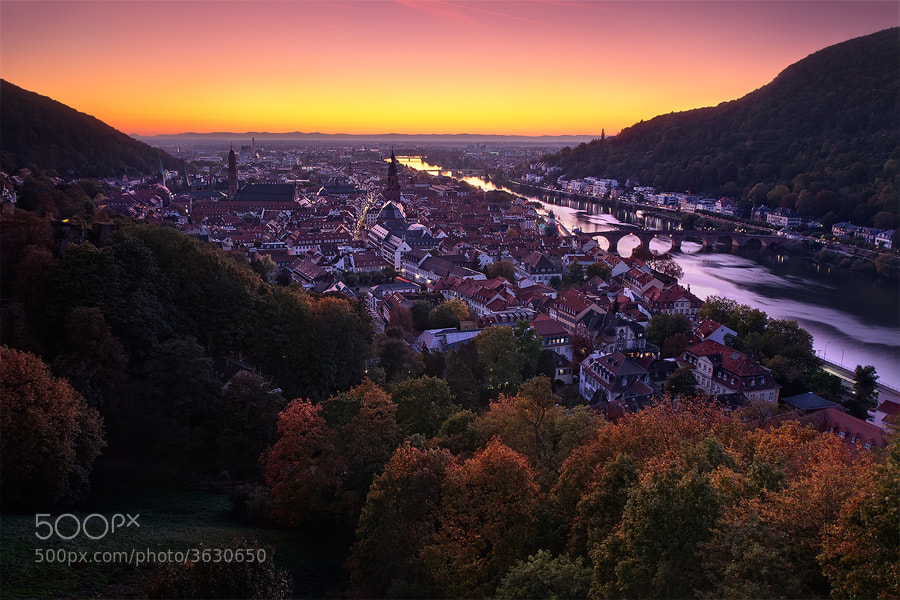 Photograph Heidelberg - Autumn Twilight by Michael  Breitung on 500px
