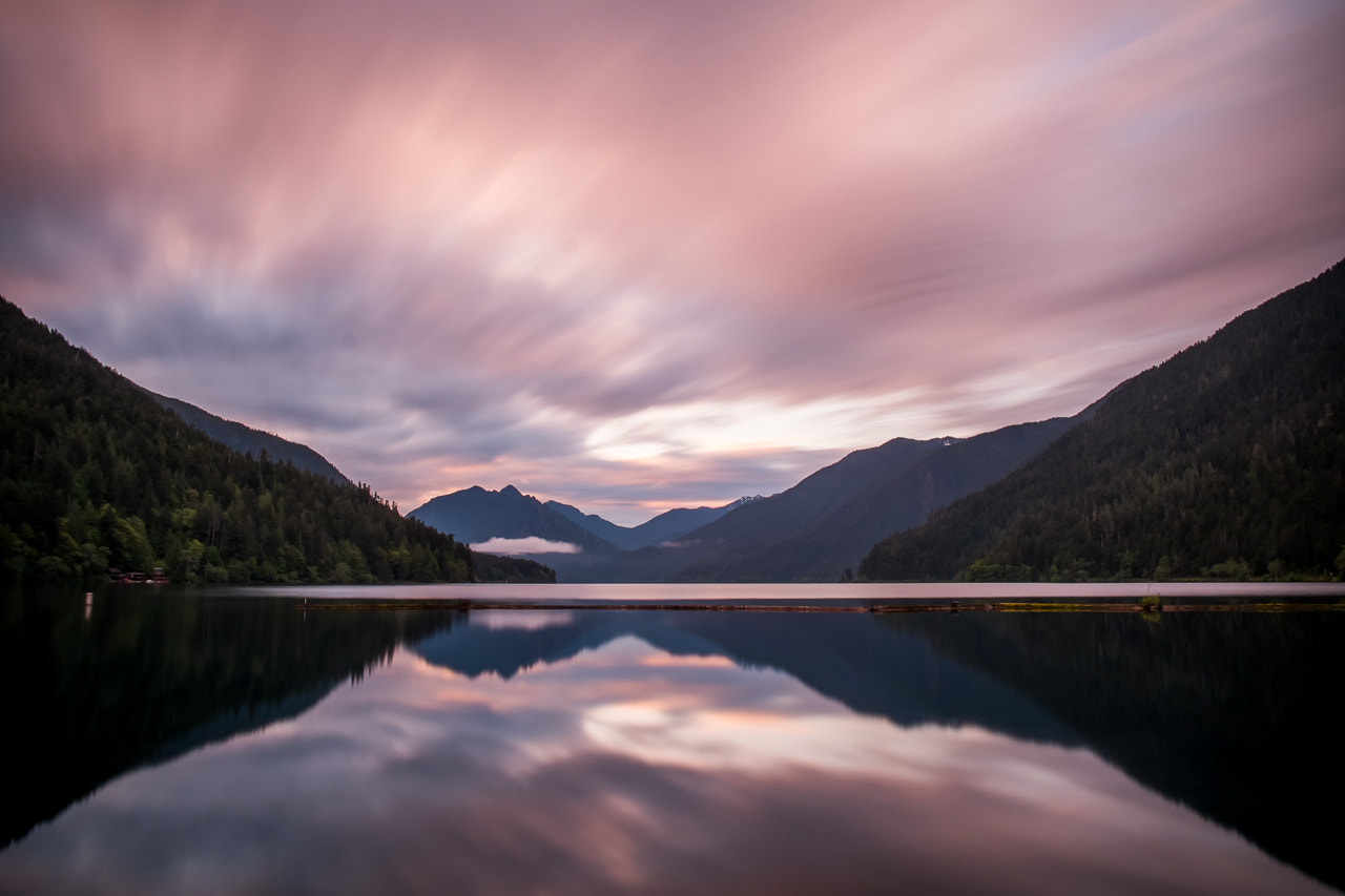 Photograph Sunrise over Lake Cresent by Lawrence Ripsher on 500px