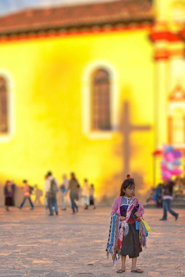 Photograph Young girl street seller in San Cristóbal de las Casas, Mexico by James Irish on 500px