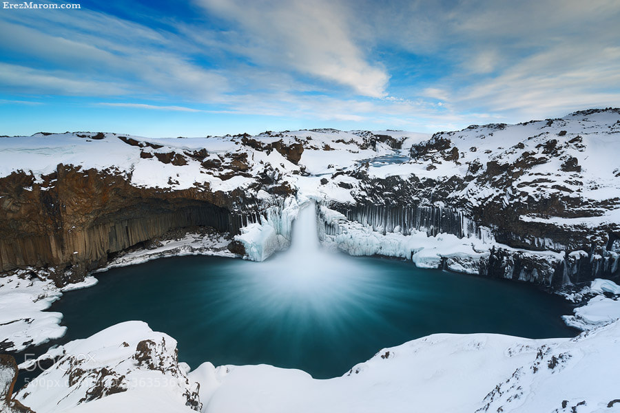 The Snowy Cloak of Aldeyjarfoss by Erez Marom on 500px.com