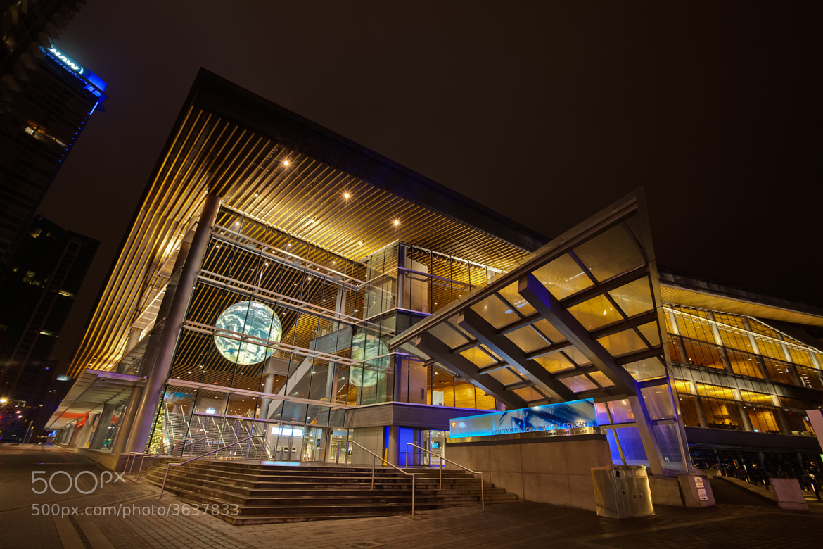 Photograph Vancouver Conference Centre at Night by Lisa Bettany on 500px