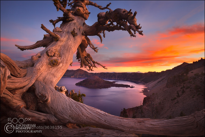 Photograph Crater Lake Sunset by Zack Schnepf on 500px